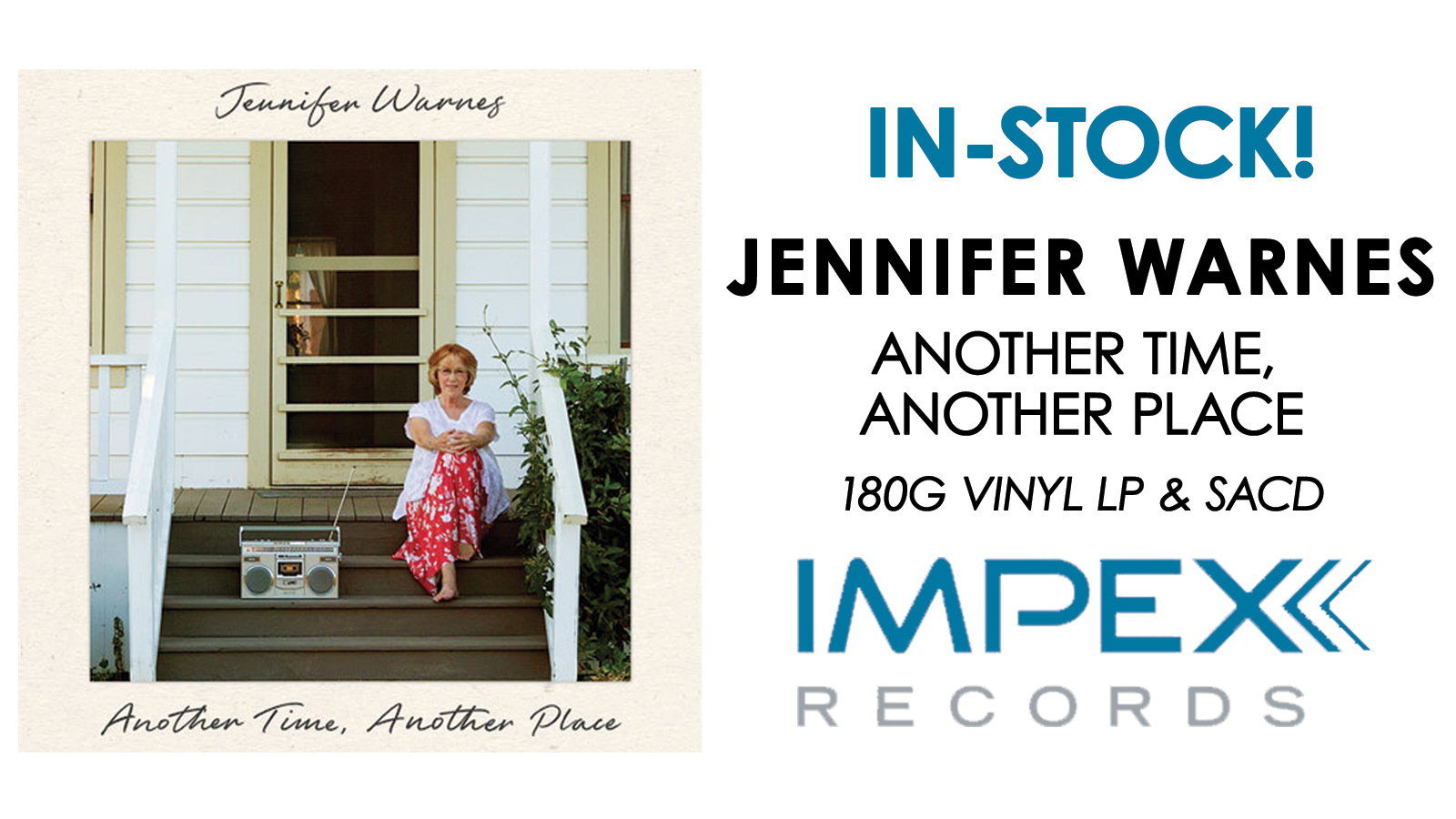 Jennifer Warnes Another Time, Another Place in Stock Now!